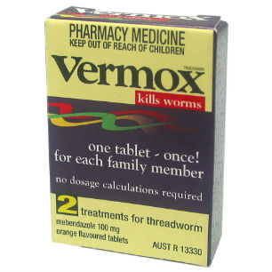 Is vermox effective against tapeworm